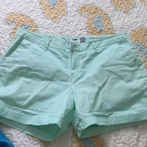 Old navy cotton shorts mint green Free top